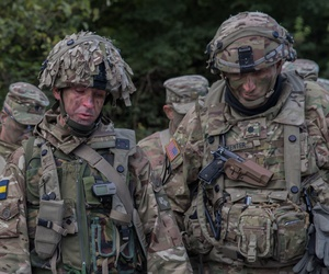 U.S. and allied soldiers participate in an 2016 exercise at Hohenfels Training Area, Germany.
