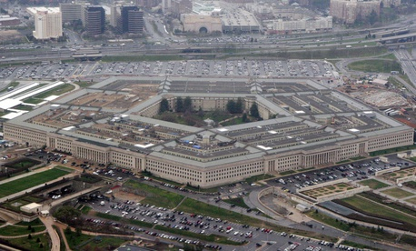 The Pentagon is seen in this aerial view in Washington, in this March 27, 2008 file photo.
