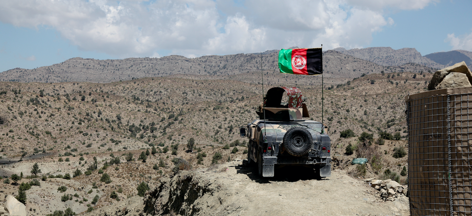 An Afghan National Army Humvee in the Paktika province, Afghanistan in 2011.
