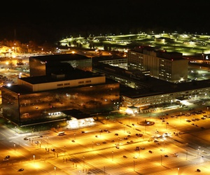 Aerial photograph of the National Security Agency in 2013.