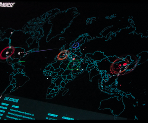 Photos taken from the Norse Attack Map.   The map shows in realtime attacks that happen on the Norse honeypots.