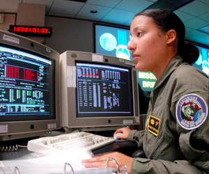 The GPS Operations Center at Schriever Air Force Base in Colorado Springs controls the GPS satellites.