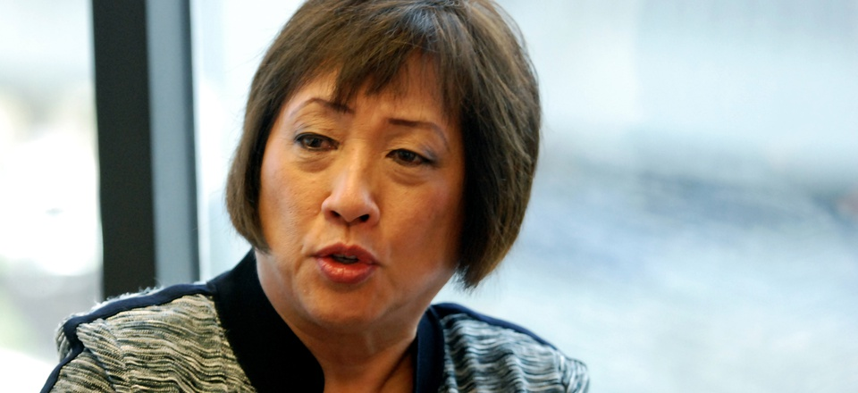 In this July 25, 2016 file photo, former U.S. Rep. Colleen Hanabusa speaks to The Associated Press in Honolulu.
