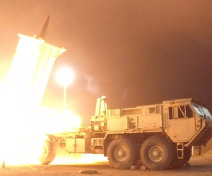 A Terminal High Altitude Area Defense (THAAD) interceptor is launched from the Pacific Spaceport Complex Alaska in Kodiak, Alaska, during Flight Experiment THAAD (FET)-01 on July 30, 2017 (EDT).