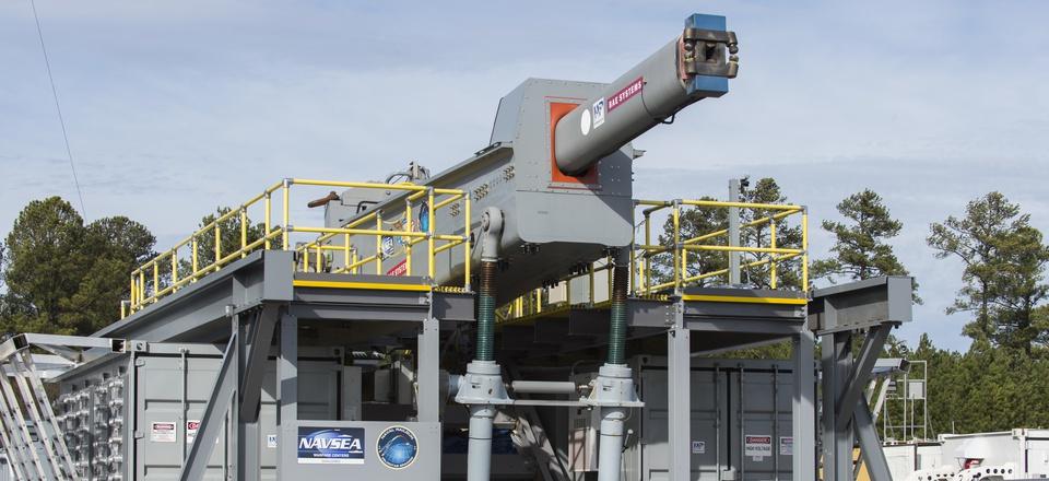 The U.S. Navy railgun