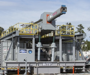 The U.S. Navy railgun