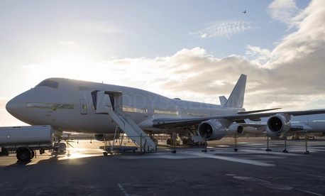President Donald Trump wanted a cheaper Air Force One, so the USAF is buying a bankrupt Russian firm's undelivered 747s, one of which is pictured here.