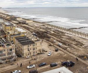 In New York City, Far Rockaway, Queens, was flooded by Hurricane Sandy in 2012.