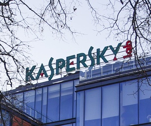 The headquarters of Kaspersky Lab in Moscow, Russia, in January 2017.