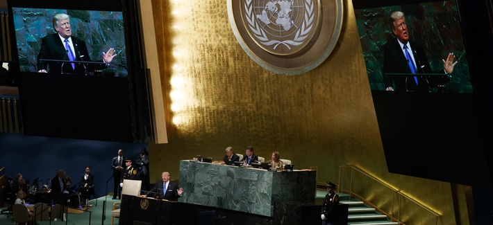 President Donald Trump speaks to the United Nations General Assembly, Tuesday, Sept. 19, 2017, in New York.