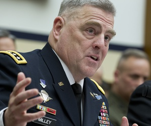 Army Chief of Staff Gen. Mark A. Milley testifies on Capitol Hill in Washington, Wednesday, April 5, 2017, before the House Armed Services Committee hearing: 'Damage to the Military from a Continuing Resolution.'
