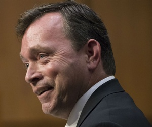 CIA inspector general nominee Christopher Sharpley appears at his confirmation hearing Tuesday.