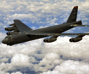 A photo of a B-52H Stratofortress based at Barksdale Air Force Base, La..