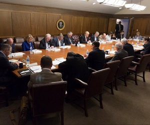 President Trump meets with his Cabinet in September 2017.