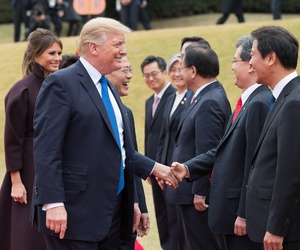 Trump greets South Korean leaders Tuesday.