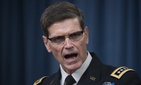 Army Gen. Joseph Votel, Commander of U.S. Central Command, briefs reporters on the release of the investigation into the U.S. airstrike on the Doctors With Borders trauma center in Kunduz, Afghanistan, Friday, April 29, 2016, at the Pentagon.