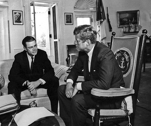 President John F. Kennedy meets with the Chairman of the Joint Chiefs of Staff Gen. Maxwell D. Taylor and Defense Secretary Robert S. McNamara at the White House on Oct. 2, 1963.