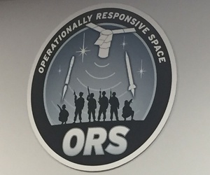 The seal of the U.S. Air Force's Operationally Responsive Space office.