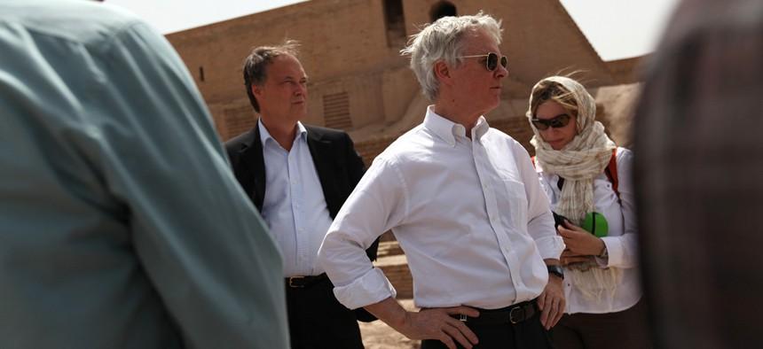Former U.S. Ambassador Ryan Crocker in Afghanistan in 2011.
