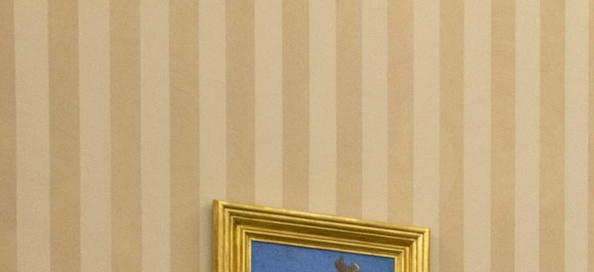 President Obama meets with House Speaker John Boehner in the Oval Office on February 25, 2014.
