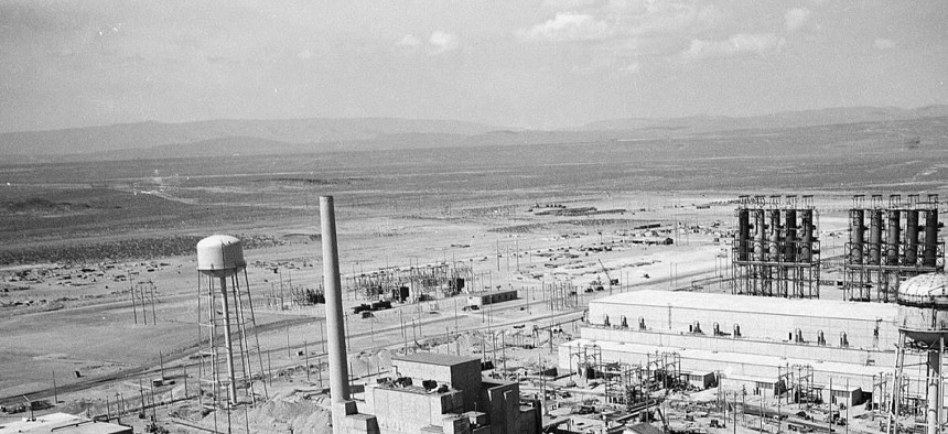 A photo of the Hanford B Reactor Area near Richland, Washington. ,
