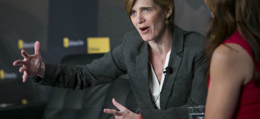 Samantha Power, the U.S. Ambassador to the United Nations, speaks at the Defense One Summit in Washington, D.C., Nov. 19, 2014.