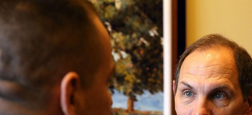 Sec. Bob McDonald visits the Audie Murphy VA Medical Center in San Antonio, January 9, 2015.
