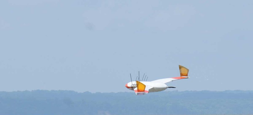 """A model of the """"Flimmer"""" in flight."""