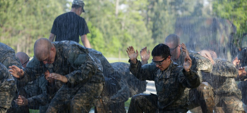 U.S. Army Soldiers during the Ranger Course on Fort Benning, GA., April 21, 2015.