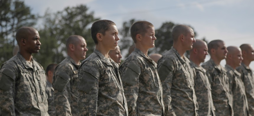 U.S. Army Soldiers participate in combatives training during the Ranger Course on Ft. Benning, GA., April 20, 2015.