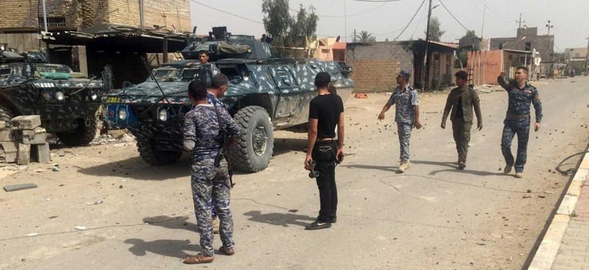 Iraqi security forces and tribal fighters regain control of the southern and western neighborhoods of Ramadi, on April 30, 2015.