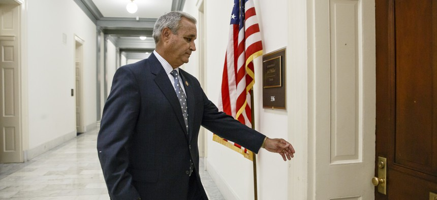 Rep. Jeff Miller, R-Fla., chairman of the House Veterans' Affairs Committee, walks to his office on Capitol Hill, May 28, 2014.