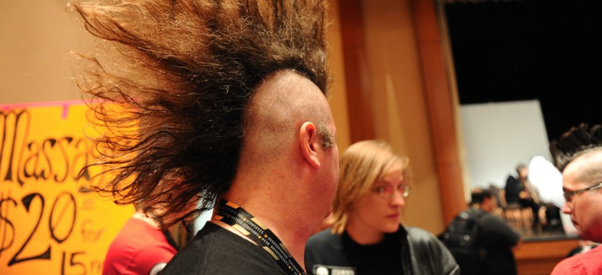 A mohawked man at DEF CON 19 in 2011. Used under Creative Commons.