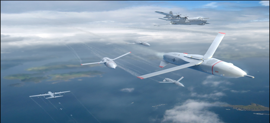 An artist's concept of DARPA's proposed Gremlins.
