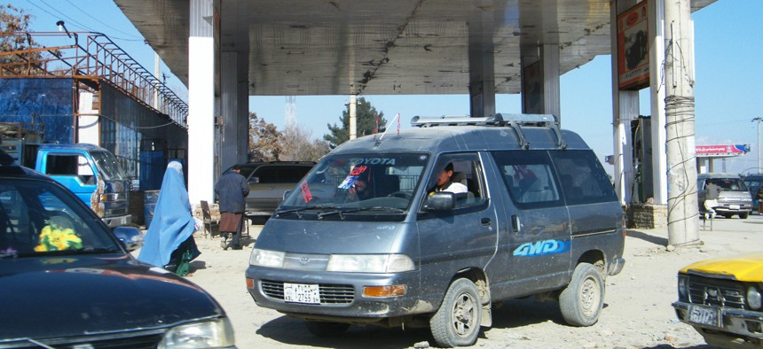 A gas station in Afghanistan likely costing less than $43 million.