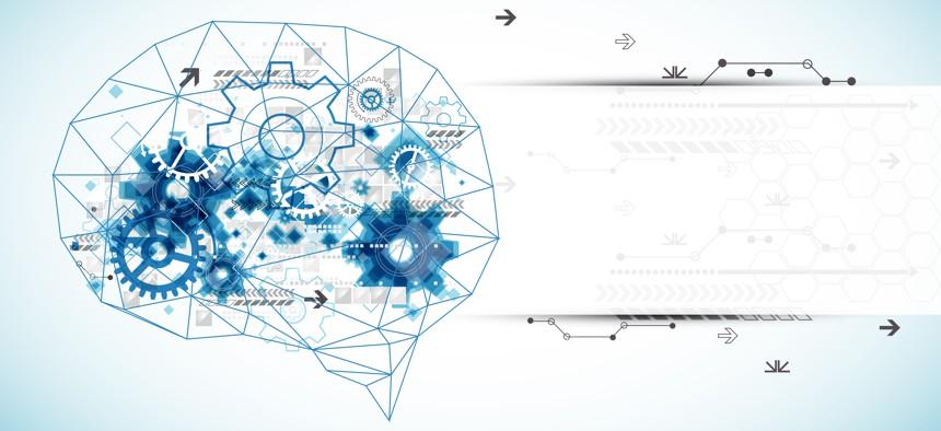An artistic representation of an AI breakthrough