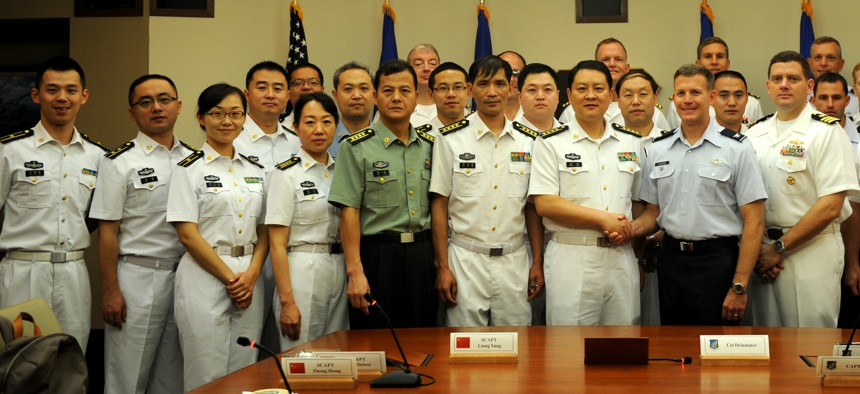 U.S. and Chinese military leaders found something to agree on at bi-annual maritime talks, held Nov. 21-24, at Headquarters, Pacific Air Forces, Joint Base Pearl Harbor-Hickam, Hawaii.