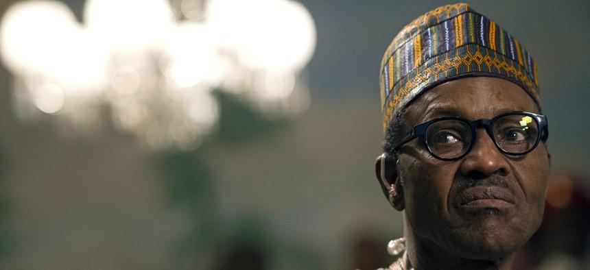 Nigerian President Muhammadu Buhari took power in 2015, pictured here in Washington, DC, in July.