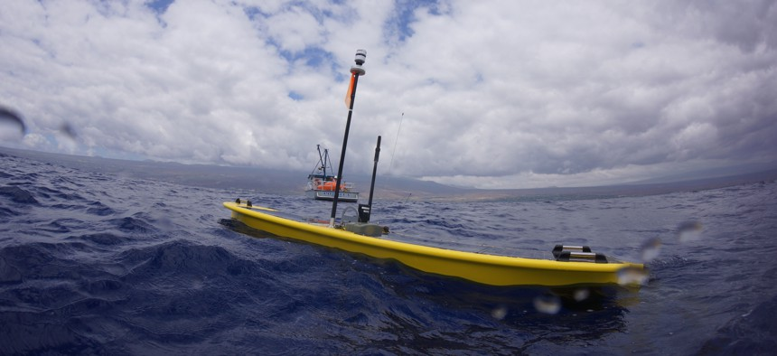 The Wave Rider SV3 combines solar power with a unique way to harness wave motion to carry sensors on months-long patrols.