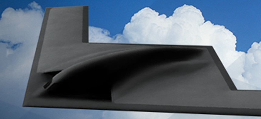 Artist's conception of the B-21 bomber