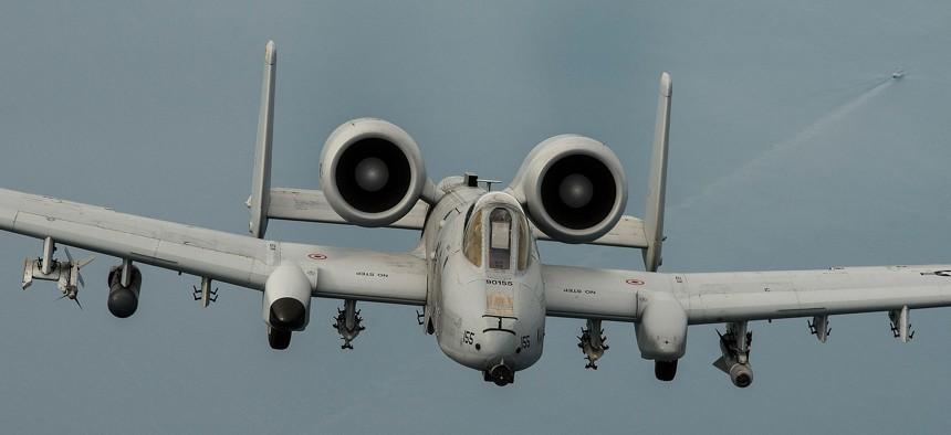 An A-10 Thunderbolt II flies over the Baltic Sea on Sept. 4, 2015.