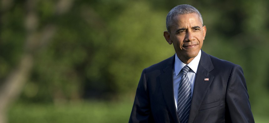 President Obama returns to the White House, Tues., July 6, 2016.