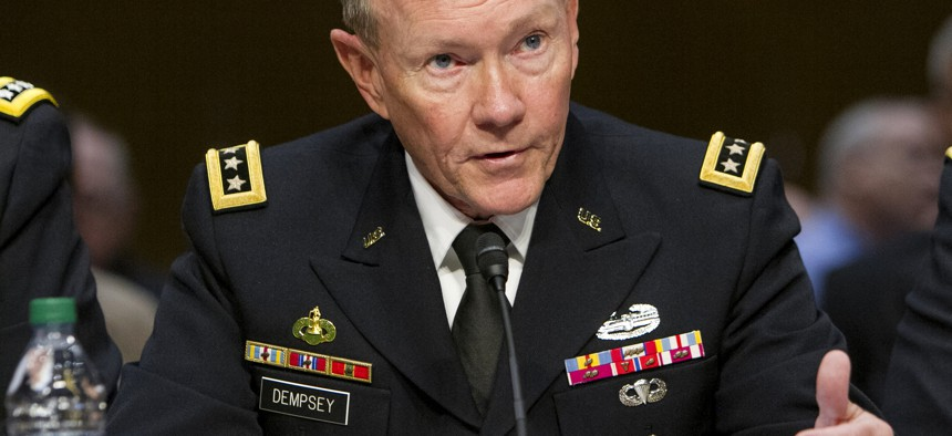 Chairman of the Joint Chiefs of Staff Gen. Martin E. Dempsey testifies before the U.S. Senate Armed Services Committee in Washington, D.C., on June 4, 2013.