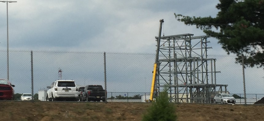 The prototype Long-Range Discrimination Radar is going up in Lockheed Martin's facility in Moorestown, N.J.