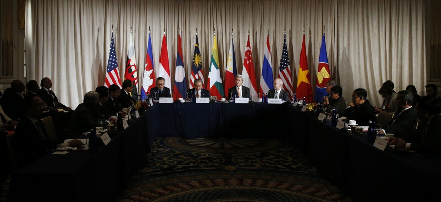 """Members of ASEAN, the Association of Southeast Asian Nations, are """"increasingly determined to reach understanding ideally with China"""" about acceptable conduct in the South China Sea, Russel said."""