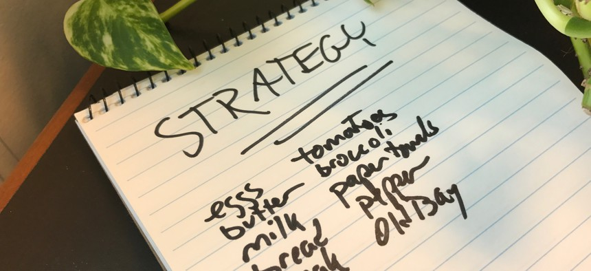 """How often have you heard """"strategic"""" and """"complex"""" applied to things no more strategic and complex than a shopping list?"""