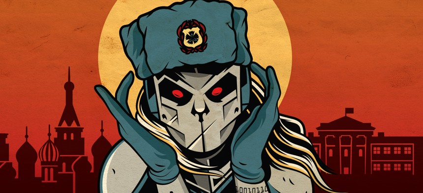 A Crowdstrike Illustration of the FANCY BEAR group believed to be linked to the Russian military intelligence service.