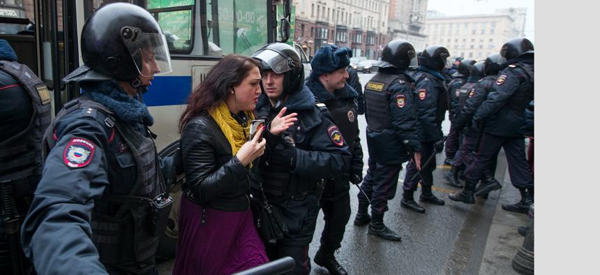 Russian protests, April 2, 2017.
