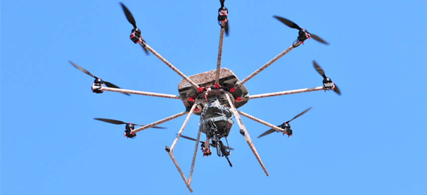 the TIKAD armed drone from Duke Robotics