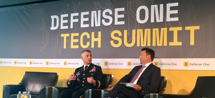 Army Lt. Gen. Paul Nakasone talks at the 2nd Annual Defense One Tech Summit on July 13, 2017, in Washington, D.C.
